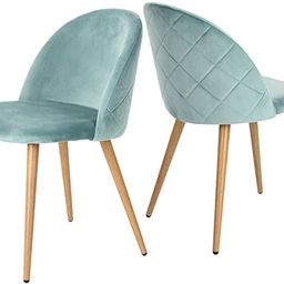 GreenForest Dining Chairs Set of 2, Modern Velvet Accent Leisure Side Chairs with Metal Legs for ... | Amazon (US)