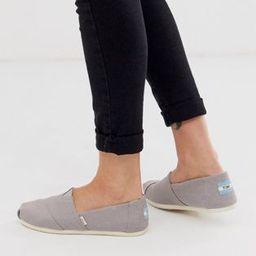 TOMS Alpargata flat slip on shoes in gray   ASOS US