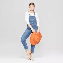 Women's Mid-Rise Denim Overalls - Universal Thread™ Medium Wash | Target