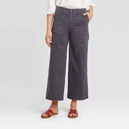 Women's High-Rise Wide Leg Cropped Jeans - Universal Thread™ Gray | Target