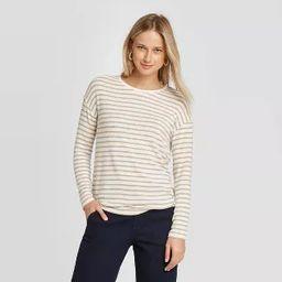 Women's Striped Long Sleeve Crewneck T-Shirt - A New Day™ | Target