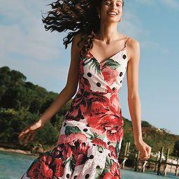 Farm Rio Riviera Eyelet Maxi Dress | Anthropologie (US)