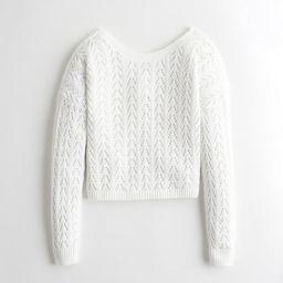 Reversible Twist Open-Stitch Sweater   Hollister US