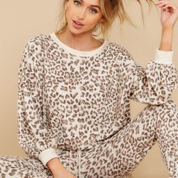 Ahead Of The Game Beige Leopard Print Top   Red Dress