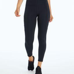 Marika Women's Leggings BLACK - Black Side-Moto Dash 7/8 Leggings - Women | Zulily