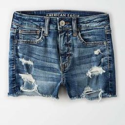 AE Ne(x)t Level High-Waisted Denim Short Short | American Eagle Outfitters (US & CA)