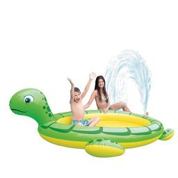 Pool Central 7' Inflatable Sea Turtle Children's Kiddie Pool - Green/Yellow | Target