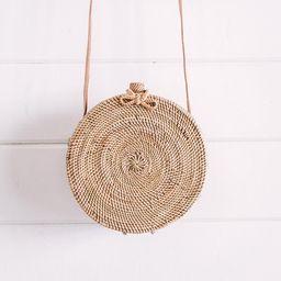 Balinese Round Rattan Crossbody Bag- Rattan Woven bag- Boho Bag- Handwoven Ata Grass Straw Bag- B... | Etsy (US)