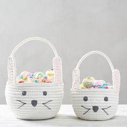 Woven Shaped Bunny Easter Basket | Pottery Barn Kids