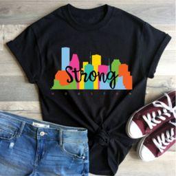 Houston Strong Skyline Camisa | Etsy (ES)
