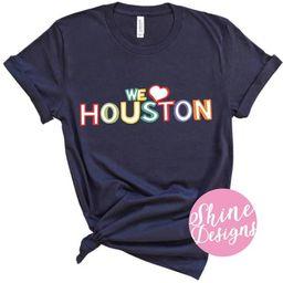 Houston Strong - Houston Icons Camiseta ***30% de todas las compras serán donadas al Banco de Al... | Etsy (ES)