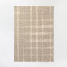 Cottonwood Hand Woven Plaid Wool/Cotton Area Rug Neutral - Threshold™ designed with Studio McGe... | Target