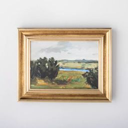 """11"""" x 14"""" Framed Canvas with Molding Antique - Threshold™ designed with Studio McGee 