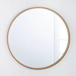 "34"" Round Decorative Wall Mirror Brass - Threshold™ designed with Studio McGee | Target"