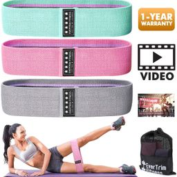 Resistance Bands for Legs and Butt, Exercise Bands Booty Bands Hip Bands Wide Workout Bands Sport...   Amazon (US)