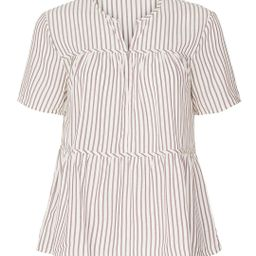 Dunfield Striped Popover Top | Rent The Runway