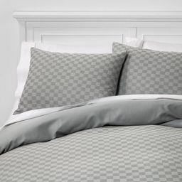 Check Woven Duvet & Sham Set Gray - Project 62™ + Nate Berkus™ | Target