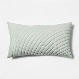 Quilted Jersey Oversize Lumbar Throw Pillow Light Green - Project 62™ | Target