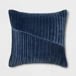 Square Pleated Velvet Pillow - Project 62™ | Target