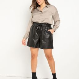 Vegan Leather Shorts | Eloquii