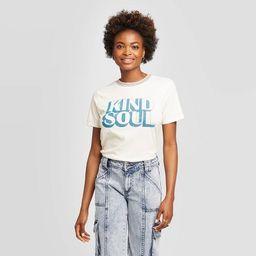 Women's Kind Soul Short Sleeve Graphic T-Shirt - Zoe+Liv (Juniors') - Ivory | Target