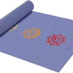 Gaiam Yoga Mat - Classic 4mm Print Thick Non Slip Exercise & Fitness Mat for All Types of Yoga, P... | Amazon (US)