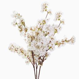 Yinhua 39 Inch Artificial Cherry Blossom Branches Flowers Stems Silk Tall Fake Flower Arrangement...   Amazon (US)