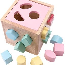 Babe Rock Shape Color Sorter Toddler Toy - Wooden Childrens Color Recognition Shape Sorting Cube ...   Amazon (US)