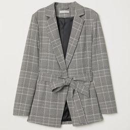 H & M - Jacket with Tie Belt - Gray | H&M (US)