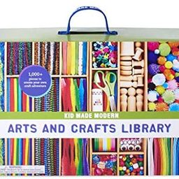 Kid Made Modern New Arts and Crafts Library Set - Kid Crafting Supplies, Art Projects in a Box   Amazon (US)
