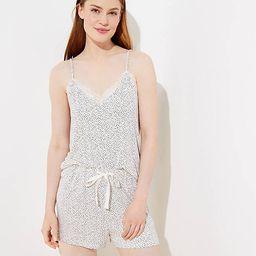 Dotted Lace Trim Pajama Cami | LOFT