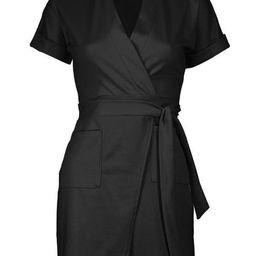 Petite Obie Tie Wrap Dress | Boohoo.com (US & CA)