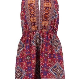Printed Keyhole Sun Dress   Boohoo.com (US & CA)