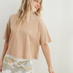 Aerie Boyfriend Cropped Oversized T-Shirt | American Eagle Outfitters (US & CA)