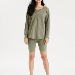 AE Long Sleeve Henley Top | American Eagle Outfitters (US & CA)