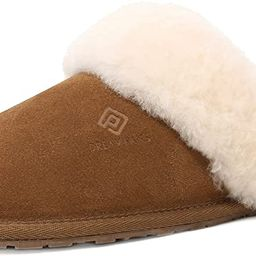 DREAM PAIRS Women's Sheepskin Slip On House Slippers Indoor Outdoor Winter Shoes | Amazon (US)