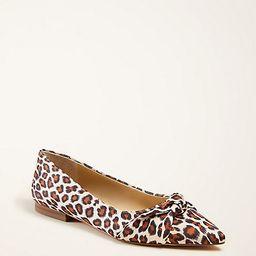 Kimmy Leopard Print Knot Bow Flats   Ann Taylor   Ann Taylor (US)