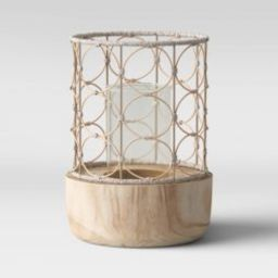 Outdoor Lantern Wood & Woven - Opalhouse™   Target