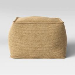 Outdoor Pouf Natural Woven - Threshold™   Target