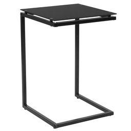 Flash Furniture Burbank Black Glass End Table with Black Metal Frame   Walmart (US)