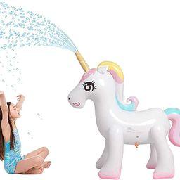 Panther Magical Inflatable Unicorn Yard Sprinkler, Summer Outdoor Water Game Splash Play Alicorn/... | Amazon (US)