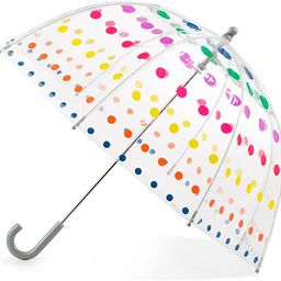 totes Kid's Clear Bubble Umbrella with Easy Grip Handle, Dots | Amazon (US)