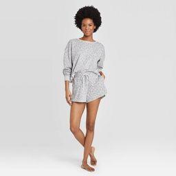 Women's Leopard Print Lounge Shorts - Colsie™ Gray | Target