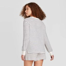 Women's Striped Perfectly Cozy Lounge Sweatshirt - Stars Above™ | Target