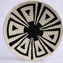 Jamba  African Wall Basket, Rwanda baskets, African Woven basket,  Black and White   Etsy (US)