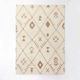 Claybourne Hand Tufted Tribal Shag Two Tone Diamond Wool/Jute Area Rug Ivory - Threshold™ desig... | Target