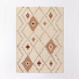Northridge Hand-Tufted Wool Shag Diamond Area Rug Beige/Brown - Threshold™ designed with Studio... | Target
