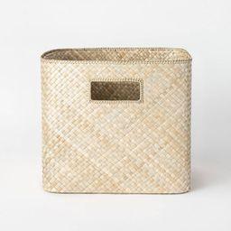 "Decorative Pandan Basket with Handles 13"" x 11""  Natural - Threshold™ designed with Studio McGe...   Target"