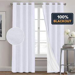 PrinceDeco Full Blackout Curtains for Bedroom Waterproof Linen Textured Window Curtain Panels for...   Amazon (US)