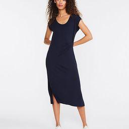 Lou & Grey Signature Softblend Lite Twist Midi Dress | LOFT